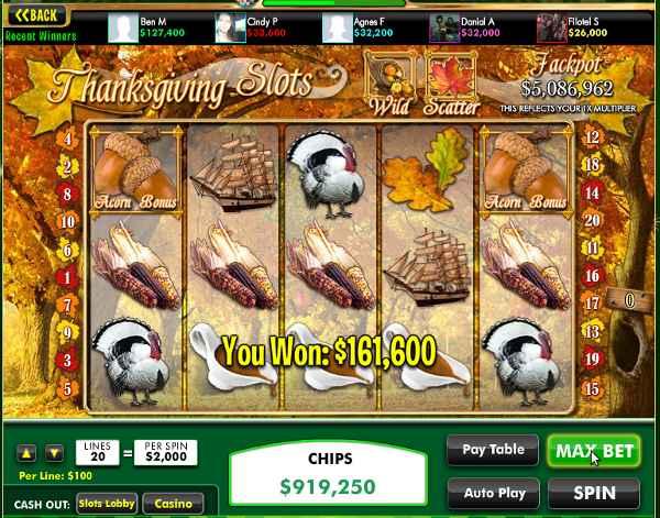 Thanksgiving Slots